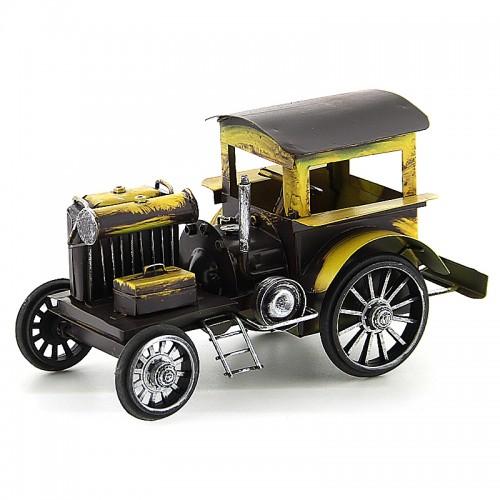 Διακοσμητικό Μεταλλικό Αυτοκίνητο Εποχής (Κίτρινο)
