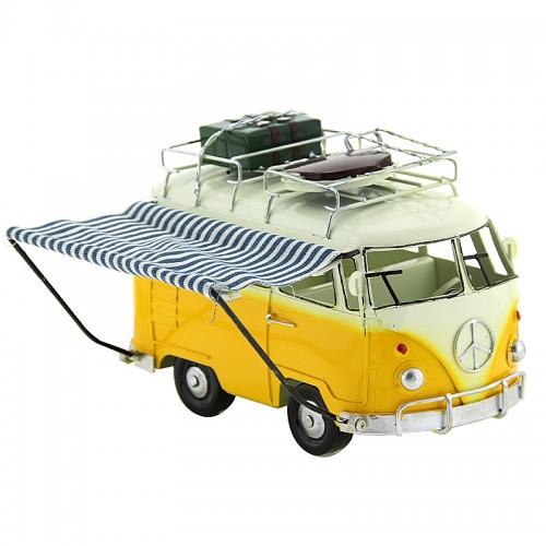 Αυτοκίνητο Εποχής - Βανάκι με Δύο Βαλίτσες (Κίτρινο)