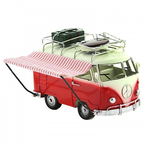 Αυτοκίνητο Εποχής - Βανάκι με Δύο Βαλίτσες (Κόκκινο)