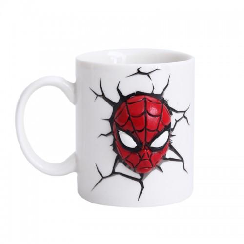 3D Κούπα Spiderman (Άσπρο)