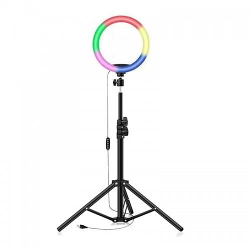 Led Ring Light 20cm 8'' με Εναλλαγή Χρωμάτων και Τρίποδο (Μαύρο)