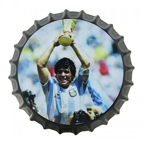 Μεταλλικό Διακοσμητικό Τοίχου Καπάκι Diego Maradona World Cup (Design)