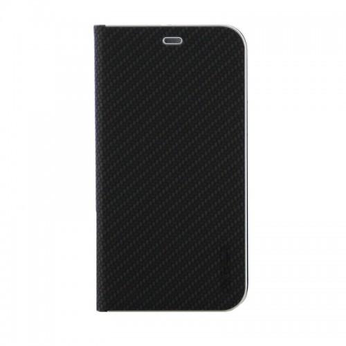 Θήκη Vennus Book Carbon Flip Cover για Samsung Galaxy A71 (Μαύρο)