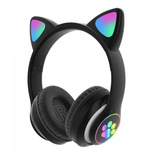 Ασύρματα Ακουστικά CAT STN-28 με LED Φωτισμό (Μαύρο)