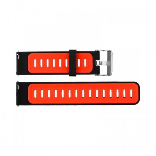 Ανταλλακτικό Λουράκι OEM Two-color για Amazfit 2/2S Stratos (Μαύρο - Κόκκινο)