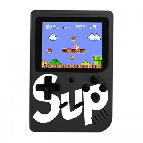 Retro Portable Mini Game Console Sup με 400 Παιχνίδια (Μαύρο)