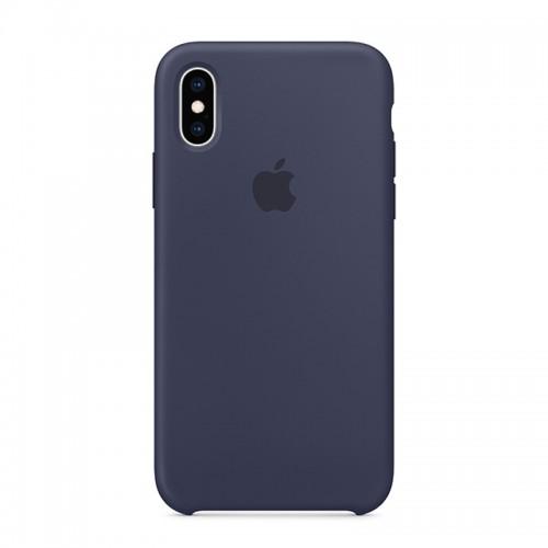 Θήκη Original Apple Silicone Case για iPhone XS Max (MRWG2ZM/A) (Midnight Blue)