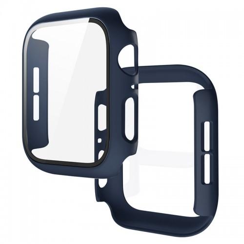 Θήκη Προστασίας με Tempered Glass για Apple Watch 42mm (Midnight Blue)