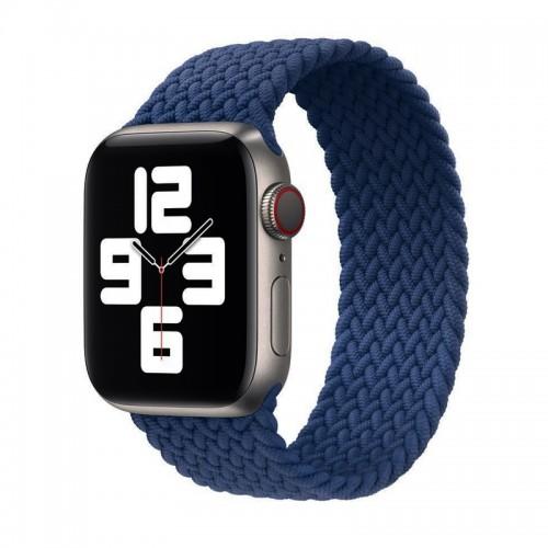 Ανταλλακτικό Λουράκι Σιλικόνης OEM Braided Solo Loop για Apple Watch 42/44mm (145mm) (Midnight Blue)