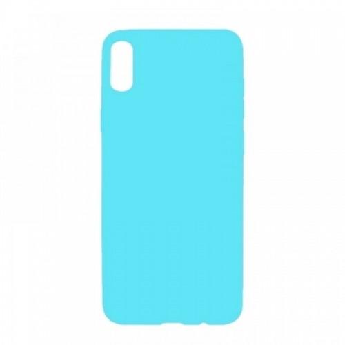 Θήκη MyMobi Σιλικόνης Mat Back Cover για Samsung Galaxy A12 (Γαλάζιο)
