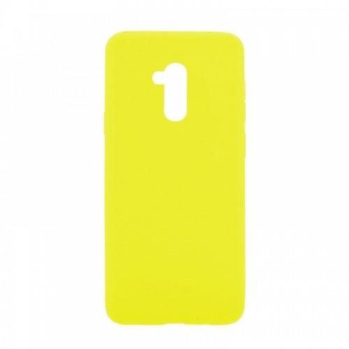 Θήκη MyMobi Σιλικόνης Mat Back Cover για Samsung Galaxy A12 (Κίτρινο)