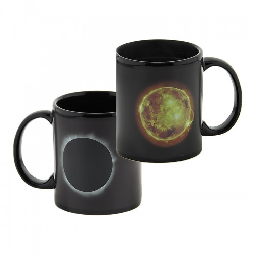 Κούπα με Εναλλαγή Σχεδίων Ανάλογα με την Θερμοκρασία Solar Eclipse Heat (Μαύρο)