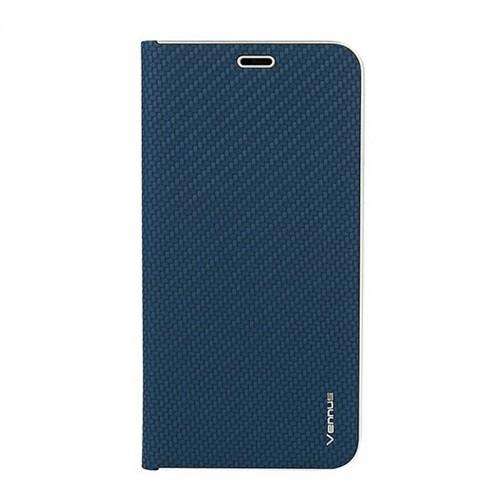Θήκη Vennus Book Carbon Flip Cover για Samsung Galaxy A71 (Μπλε)