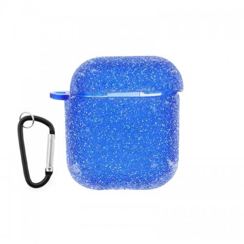 Θήκη Silicone Glitter για Apple AirPods (Μπλε)