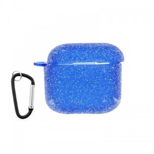 Θήκη Silicone Glitter για Apple AirPods Pro (Μπλε)