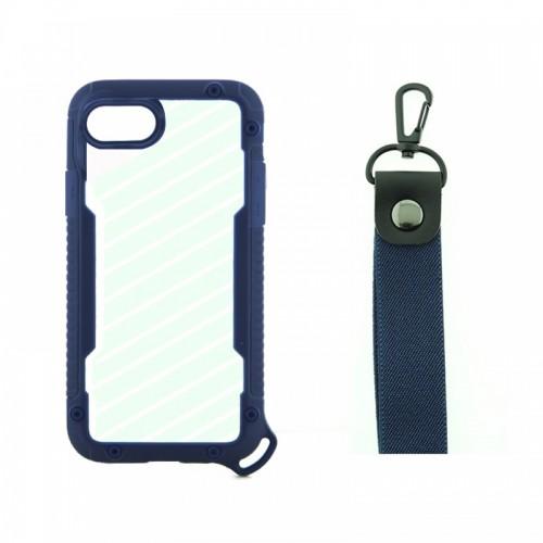 Θήκη OEM Bumper Back Cover με Λουράκι Χειρός για iPhone 7/8 Plus (Μπλε)