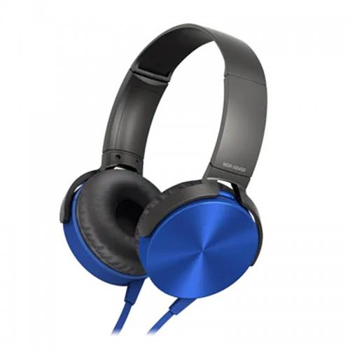 Ενσύρματα Ακουστικά MDR-XB450AP με Ενσωματωμένο Μικρόφωνο (Μπλε)