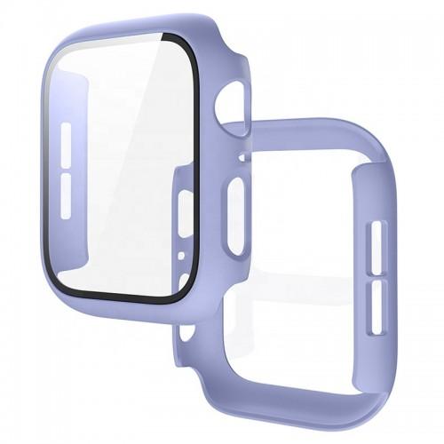 Θήκη Προστασίας με Tempered Glass για Apple Watch 44mm (Μωβ)