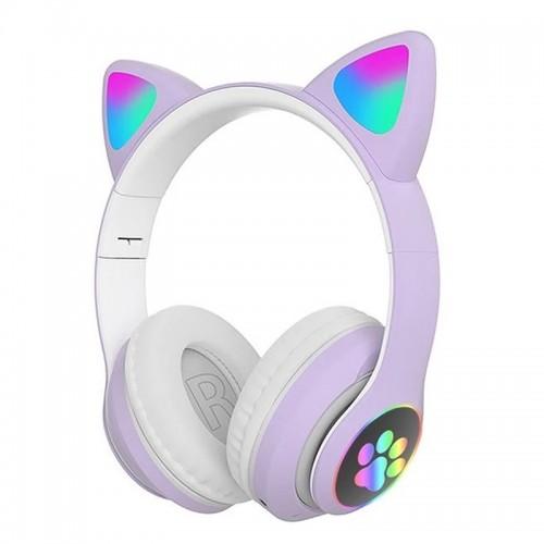 Ασύρματα Ακουστικά CAT STN-28 με LED Φωτισμό (Μωβ)