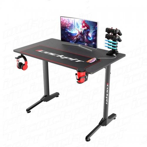 Gaming Desk NE-1160-1 With Headphone hook & Cup holder 111x60x75cm (Black)