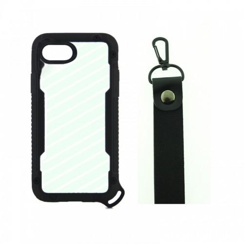 Θήκη OEM Bumper Back Cover με Λουράκι Χειρός για iPhone 7/8 Plus (Μαύρο)