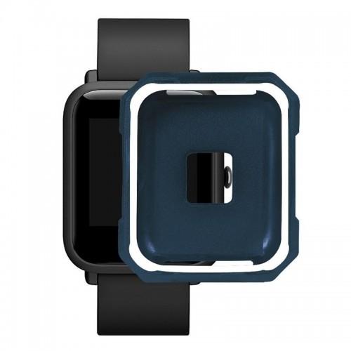 Προστατευτικό Κάλυμμα OEM για Xiaomi Amazfit Bip (Άσπρο-Μπλε)