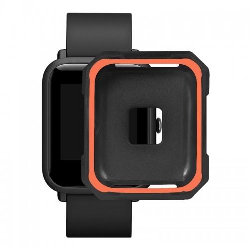 Προστατευτικό Κάλυμμα OEM για Xiaomi Amazfit Bip (Μαύρο-Πορτοκαλί)