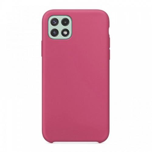Θήκη OEM Silicone Back Cover για Samsung Galaxy A22 5G (Dark Pink)