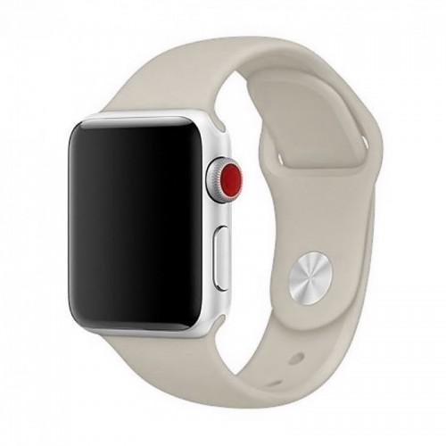 Ανταλλακτικό Λουράκι OEM Smoothband για Apple Watch 42/44mm (Ανοιχτό Γκρι)