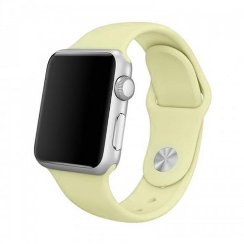 Ανταλλακτικό Λουράκι OEM Smoothband για Apple Watch 42/44mm (Ανοιχτό Κίτρινο)