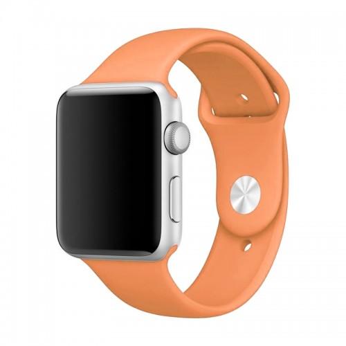Ανταλλακτικό Λουράκι OEM Smoothband για Apple Watch 42/44mm (Ανοιχτό Πορτοκαλί)
