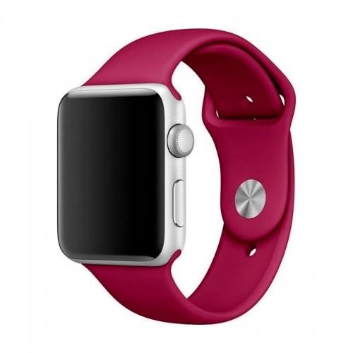 Ανταλλακτικό Λουράκι OEM Smoothband για Apple Watch 42/44mm (Cherry)