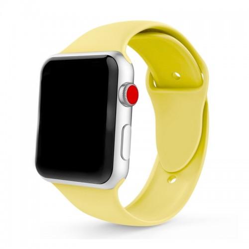 Ανταλλακτικό Λουράκι OEM Smoothband για Apple Watch 42/44mm (Κίτρινο)