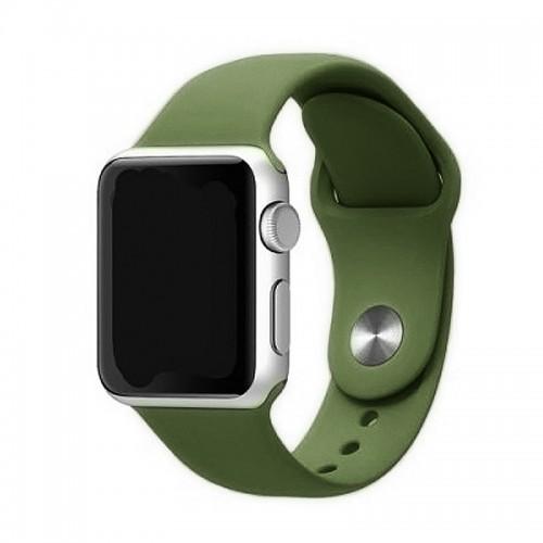 Ανταλλακτικό Λουράκι OEM Smoothband για Apple Watch 42/44mm (Λαδί)