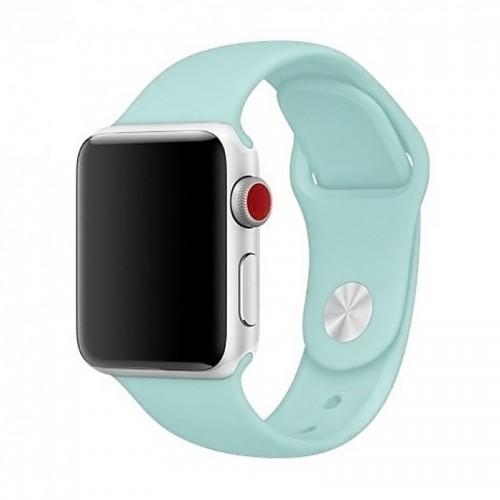 Ανταλλακτικό Λουράκι OEM Smoothband για Apple Watch 42/44mm (Light Blue)