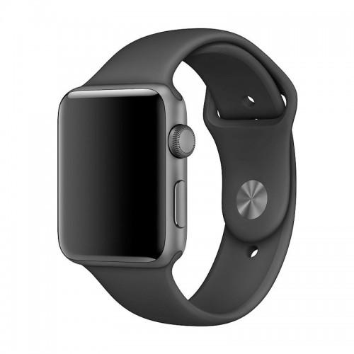 Ανταλλακτικό Λουράκι OEM Smoothband για Apple Watch 42/44mm (Μαύρο)