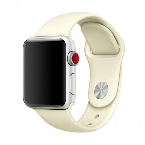 Ανταλλακτικό Λουράκι OEM Smoothband για Apple Watch 42/44mm (Μπεζ)