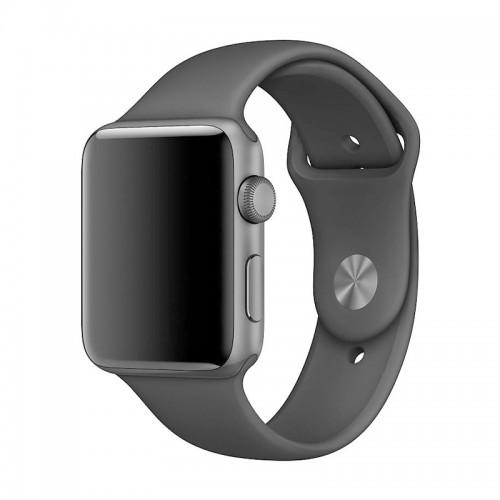 Ανταλλακτικό Λουράκι OEM Smoothband για Apple Watch 42/44mm (Σκούρο Γκρι)