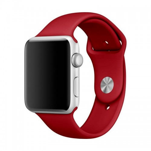 Ανταλλακτικό Λουράκι OEM Smoothband για Apple Watch 42/44mm (Σκούρο Κόκκινο)