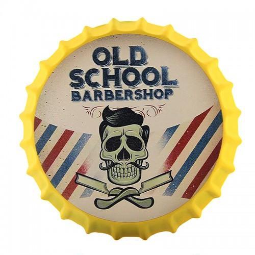 Διακοσμητικό Τοίχου Καπάκι Old School Barbershop (Design)