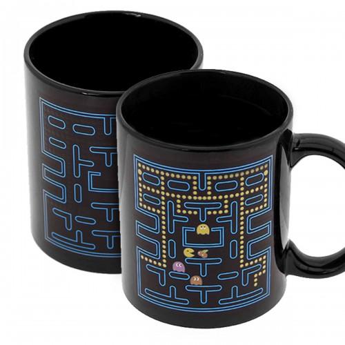 Κούπα με Εναλλαγή Σχεδίων Ανάλογα με την Θερμοκρασία Pac Man (Μαύρο)