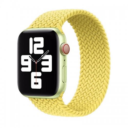 Ανταλλακτικό Λουράκι Σιλικόνης OEM Braided Solo Loop για Apple Watch 42/44mm (145mm) (Pale Yellow)