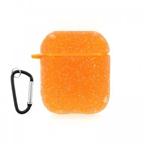 Θήκη Silicone Glitter για Apple AirPods (Πορτοκαλί)
