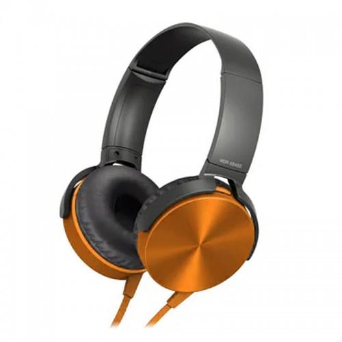 Ενσύρματα Ακουστικά MDR-XB450AP με Ενσωματωμένο Μικρόφωνο (Πορτοκαλί)
