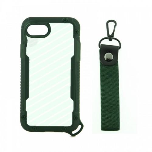 Θήκη OEM Bumper Back Cover με Λουράκι Χειρός για iPhone 7/8 Plus (Πράσινο)