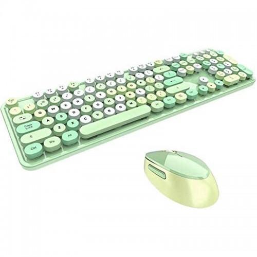 Σετ Ασύρματο Πληκτρολόγιο και Ποντίκι MOFII Sweet (Πράσινο)