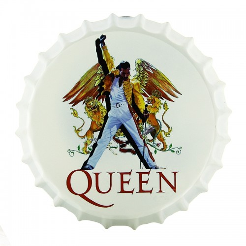 Μεταλλικό Διακοσμητικό Τοίχου Καπάκι Freddy Mercury Queen