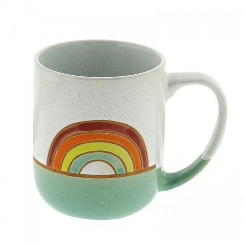 Κούπα Rainbow 450ml (Άσπρο - Βεραμάν)