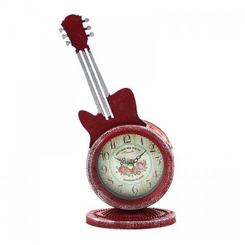 Διακοσμητικό Ρολόι - Κιθάρα (Κόκκινο)