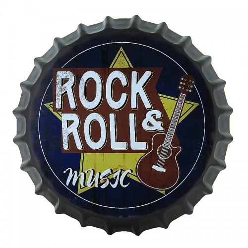 Διακοσμητικό Τοίχου Καπάκι Rock & Roll Music (Design)